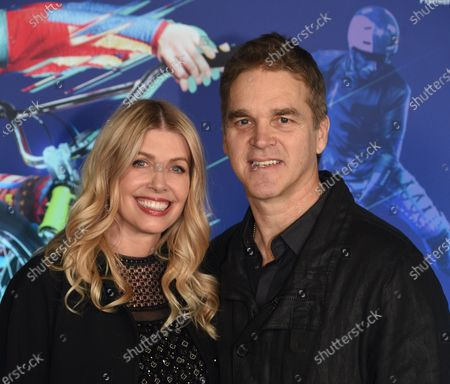 Stock Picture of Luc Robitaille And Wife