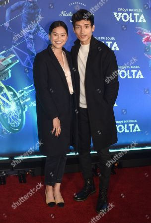 Stock Image of Manny Jacinto and Fiance Dianne Doan