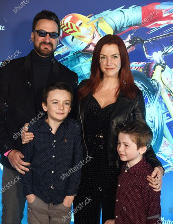 Stock Picture of Annie Wersching and Family