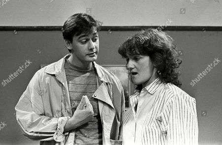 Ep 2539 Wednesday 31st July 1985 Terry Duckworth, as played by Nigel Pivaro, finally manages to make Andrea Clayton, as played by Caroline O'Neill, to listen to him. Terry tells Andrea he wants a share in the responsibility of bringing the baby up.