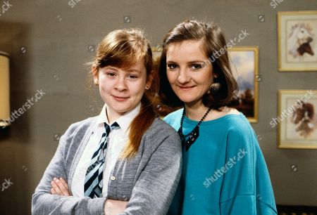 Sue Clayton, as played by Jane Hazlegrove, and Andrea Clayton, as played by Caroline O'Neill.