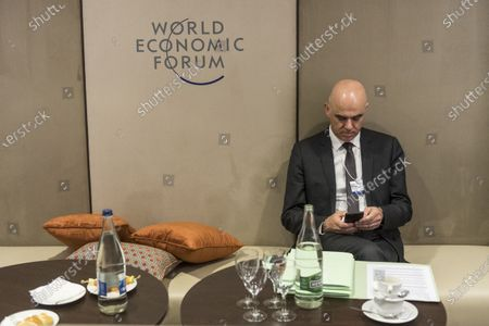 Editorial photo of 50th annual meeting of the World Economic Forum in Davos, Switzerland - 22 Jan 2020