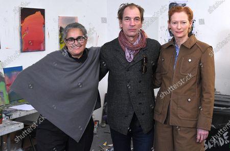 Tacita Dean, Julian Sands and Tilda Swinton