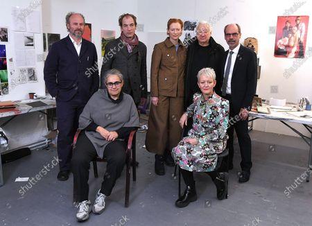 Stock Photo of Alaster Upton, Julian Sands, Tilda Swinton, Michael Craig-Martin, Stephen Deuchar, Tacita Dean, and Maria Balshaw