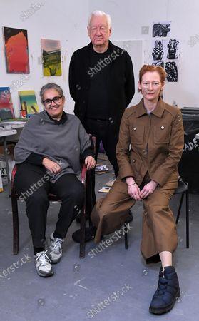 Tacita Dean, Michael Craig-Martin and Tilda Swinton