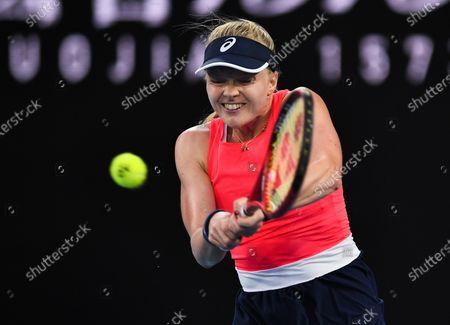 Harriet Dart in action during her Women's Singles Second Round match