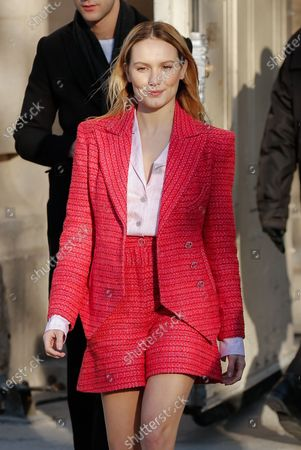 Editorial photo of Chanel show, Arrivals, Spring Summer 2020, Haute Couture Fashion Week, Paris, France - 21 Jan 2020