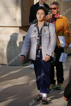 Editorial image of Chanel show, Arrivals, Spring Summer 2020, Haute Couture Fashion Week, Paris, France - 21 Jan 2020