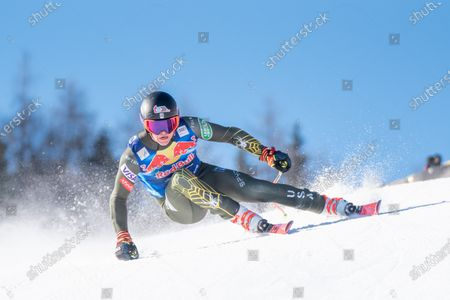 Ryan Cochran-Siegle of United States of America at the Ski Alpin: 80. Hahnenkamm Race - Audi FIS Alpine Ski World Cup - Men's Downhill Training at the Streif on in Kitzbuehel, AUSTRIA. (Photo by Horst Ettensberger/ESPA-Images)