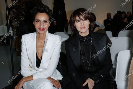 Farida Khelfa and Monica Bellucci in the front row