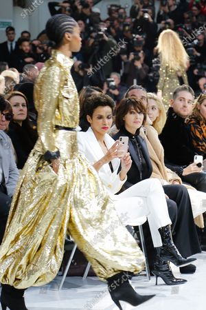 Farida Khelfa and Monica Belucci in the front row