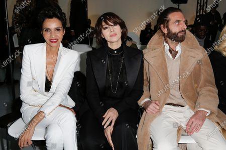 Farida Khelfa, Monica Bellucci and John Nollet in the front row