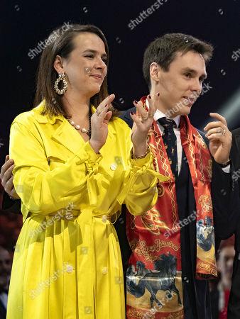 Louis Ducruet and Pauline Ducruet attend the 44th International Circus Festival