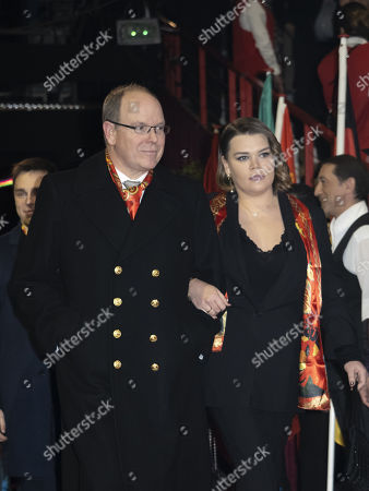 Prince Albert II of Monaco and Camille Marie Kelly Gottlieb attend the 44th International Circus Festival