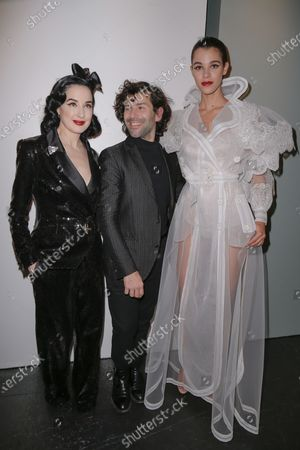 Stock Image of Dita Von Teese, Alexis Mabille and Pauline Hoarau