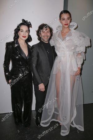 Stock Photo of Dita Von Teese, Alexis Mabille and Pauline Hoarau