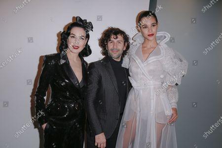 Dita Von Teese, Alexis Mabille and Pauline Hoarau