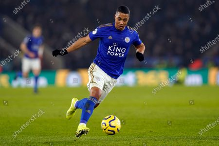 Leicester City's Youri Tielemans in action during the English Premier League soccer match between Leicester City and West Ham United at the King Power stadium in Leicester, Britain, 22 January 2020.
