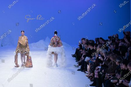 Models present creations from the Spring/Summer 2020 Haute Couture collection by Chinese designer Guo Pei during the Paris Fashion Week, in Paris, France, 22 January 2020. The presentation of the Haute Couture collections runs from 20 to 23 January 2020.