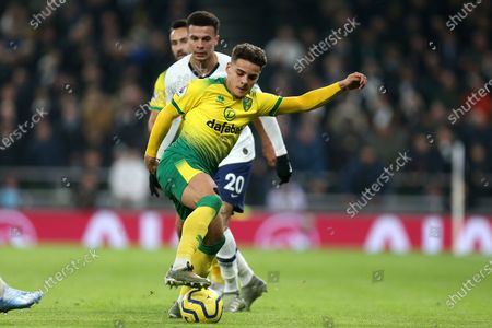 Max Aarons of Norwich City and Dele Alli of Tottenham Hotspur during Tottenham Hotspur vs Norwich City, Premier League Football at Tottenham Hotspur Stadium on 22nd January 2020