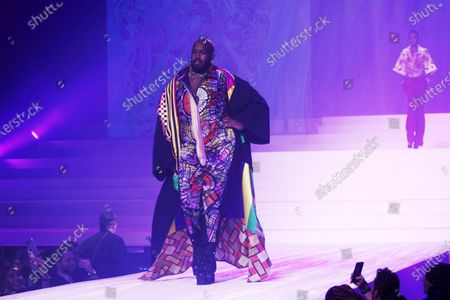 French singer and DJ Kiddy Smile presents a creation from the Spring/Summer 2020 Haute Couture collection by French designer Jean Paul Gaultier during the Paris Fashion Week, in Paris, France, 22 January 2020. After 50 years in the fashion industry, Gaultier announced that this Haute Couture show at the Theatre du Chatelet will be his last. The presentation of the Haute Couture collections ends on 23 January 2020.