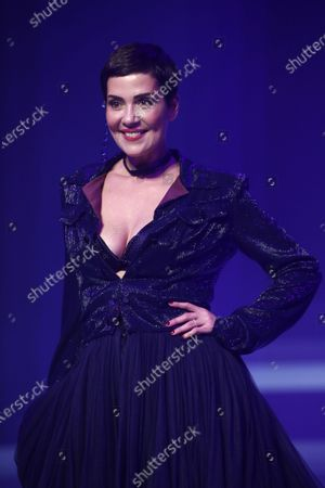 Brazilian model and TV host Cristina Cordula presents a creation from the Spring/Summer 2020 Haute Couture collection by French designer Jean Paul Gaultier during the Paris Fashion Week, in Paris, France, 22 January 2020. After 50 years in the fashion industry, Gaultier announced that this Haute Couture show at the Theatre du Chatelet will be his last. The presentation of the Haute Couture collections ends on 23 January 2020.