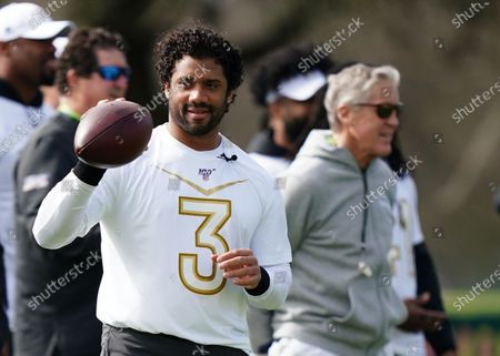 Russell Wilson during NFC Practice session