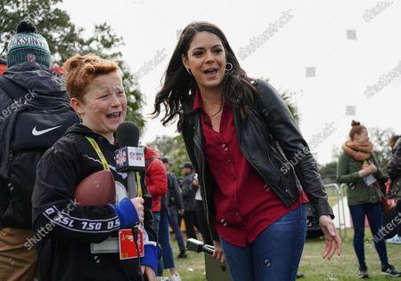 10 year old Braydon Bent  from Manchester UK with ESPN presenter  Katie Nolan