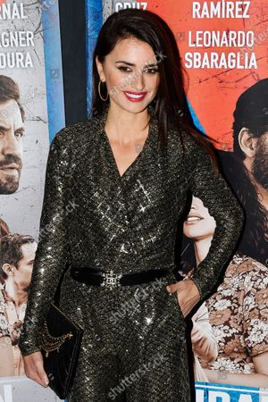 Stock Photo of Spanish actress Penelope Cruz poses during the premiere of 'Cuban Network' (Wasp Network) in Paris,? France, 22 January 2020. The movie by French director Olivier Assayas will be released in French theaters on 29 January 2020.