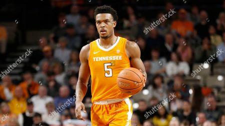 Stock Photo of Tennessee guard Josiah-Jordan James plays against Vanderbilt in an NCAA college basketball game Sat., in Nashville, Tenn