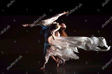 Dancers perform during the presentation of the show 'Solstice' by Spanish dancer, choreographer and Blanca Li dance compay director, Blanca Li, in Pamplona, Spain, 22 January 2020.