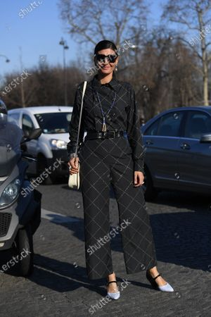 Editorial image of Street Style, Spring Summer 2020, Haute Couture Fashion Week, Paris, France - 21 Jan 2020