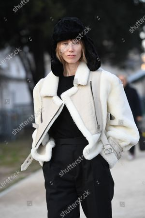 Editorial picture of Street Style, Spring Summer 2020, Haute Couture Fashion Week, Paris, France - 21 Jan 2020