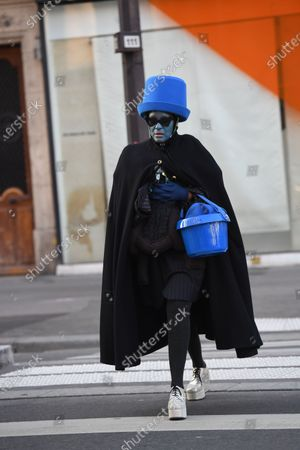 Editorial image of Street Style, Spring Summer 2020, Haute Couture Fashion Week, Paris, France - 22 Jan 2020