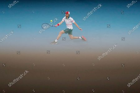 Stock Picture of Andreas Seppi of Italy in action during his men's singles second round match against Stan Wawrinka of Switzerland at the Australian Open Grand Slam tennis tournament in Melbourne, Australia, 23 January 2020.