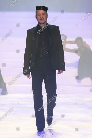 Stock Picture of Antoine de Caunes on the catwalk