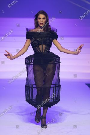 Iris Mittenaere on the catwalk