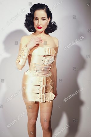 Stock Picture of Dita Von Teese backstage