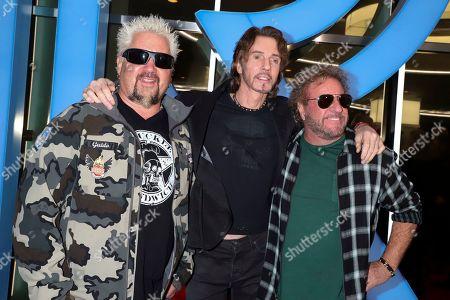 Guy Fieri, Rick Springfield and Sammy Hagar