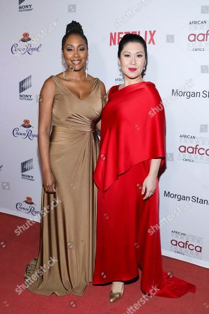 Simone Missick, Ruthie Ann Miles. Simone Missick and Ruthie Ann Miles attend the 11th Annual AAFCA Awards at the Taglyan Complex, in Los Angeles