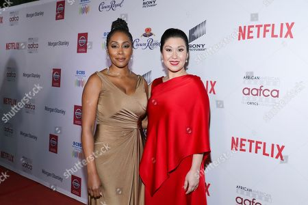 Stock Photo of Simone Missick, Ruthie Ann Miles. Simone Missick and Ruthie Ann Miles attend the 11th Annual AAFCA Awards at the Taglyan Complex, in Los Angeles