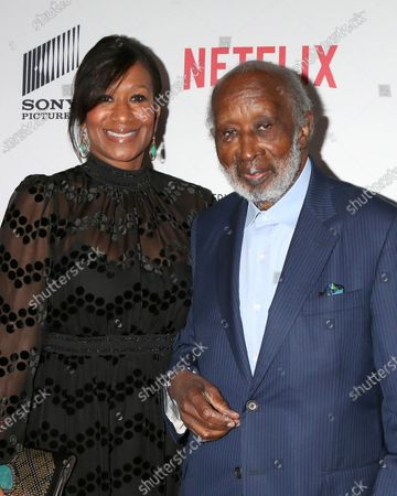 Stock Image of Nicole Avant and Clarence Avant