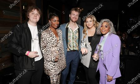 Lewis Capaldi, Victoria Monet, Finneas O'Connell, Meghan Trainor and Taylor Parks