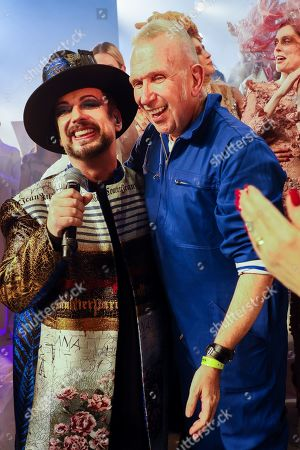 Boy George and Jean Paul Gaultier on the catwalk