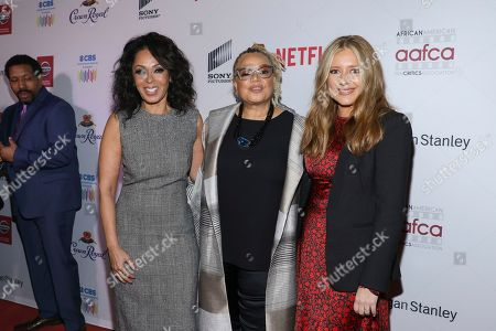 Stock Picture of Debra Martin Chase, Kasi Lemmons, and Daniela Taplin Lundberg attends the 11th Annual AAFCA Awards at the Taglyan Complex, in Los Angeles