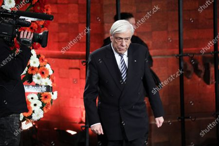 Greek President Prokopis Pavlopoulos (C) during the Fifth World Holocaust Forum at the Yad Vashem Holocaust memorial museum in Jerusalem, Israel, 23 January 2020. The event marking the 75th anniversary of the liberation of Auschwitz under the title 'Remembering the Holocaust: Fighting Antisemitism' is held to preserve the memory of the Holocaust atrocities by Nazi Germany during World War II.