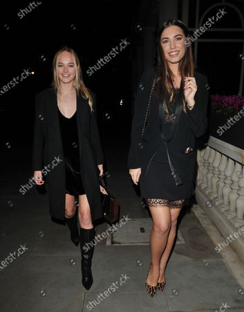 Jean Campbell and Amber Le Bon