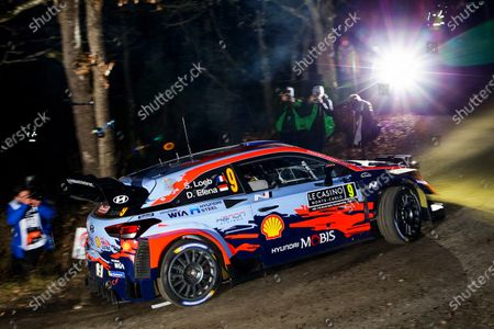 Sebastien Loeb of France drives his Hyundai i20 Coupe WRC during the shakedown of the Rally Monte Carlo 2020 as part of the World Rally Championship (WRC) near Gap, France, 22 January 2020.