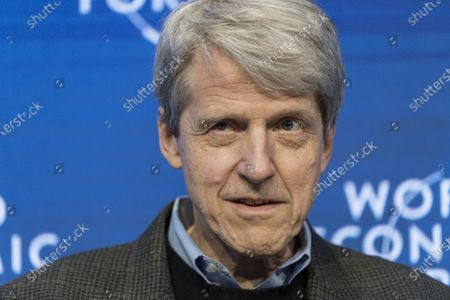 Stock Photo of Robert Shiller, Professor of Economics, Yale University, USA, addresses a panel session during the 50th annual meeting of the World Economic Forum (WEF) in Davos, Switzerland, 23 January 2020. The meeting brings together entrepreneurs, scientists, corporate and political leaders in Davos from January 21 to 24.