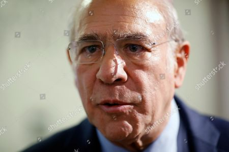 Organization for Economic Cooperation and Development (OECD) Secretary-General Angel Gurria attends the World Economic Forum in Davos, Switzerland, . The 50th annual meeting of the forum is taking place in Davos from Jan. 21 until Jan. 24, 2020
